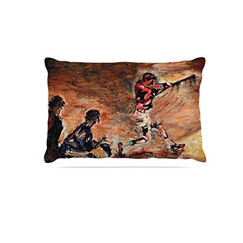 Kess InHouse Josh Serafin It's Gone   Brown Red Fleece Dog Bed, 30 by 40