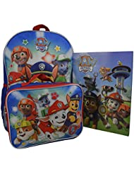 Nickelodeon Paw Patrol Boys 16 Backpack W/ Detachable Lunch Box Bonus Stationery