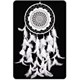 "Dream Catcher, IEVE Handmade White Dream Catchers Decor 1 Circle Traditional Circular Net Indian Feather Wedding Party Wall Hanging Ornament Gift-Approx 26""Length"