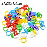 DerBlue 120 pieces Colored Plastic Poultry Leg Bands Bird Chicks Ducks Chicken Clip-on Rings (Inner diameter about 1.6cm,suitable poultry from 1 pound to 5 pounds)