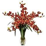 Nearly Natural 1184-BG Cymbidium Orchid Silk Flower Arrangement, Burgundy by Nearly Natural