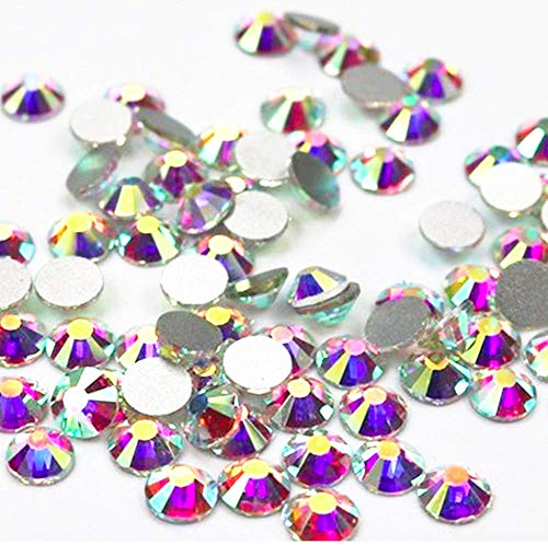 (Zealer Crystal AB/Crystal Flatback Glass Rhinestones Glue Fix (ss20 (4.8mm) 1440 pcs, Crystal AB) Come with No CASE)