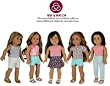 """PZAS Toys American Girl Doll Clothes Wardrobe - 7 Outfits, Fits 18"""" Doll Clothes - by"""