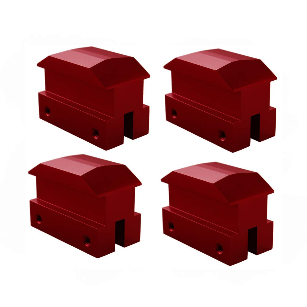 Dewhel Lift pads Jack Pad Billet Anodized Red Aluminum Floor Jack bolt on Jack Points For 6th gen Camaro 16-18,except convertable by DEWHEL