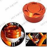 HTTMT- CNC Rear Brake Fluid Reservoir Cover Cap For KTM DUKE 125/200/390 Orange US