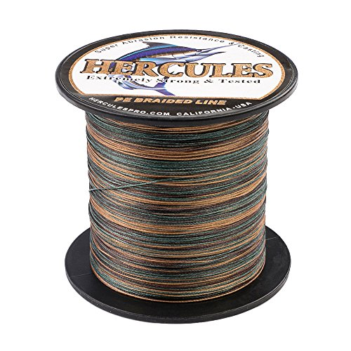 HERCULES Super Cast 100M 109 Yards Braided Fishing Line 30 LB Test for Saltwater Freshwater PE Braid Fish Lines Superline 8 Strands - Camo, 30LB (13.6KG), 0.28MM