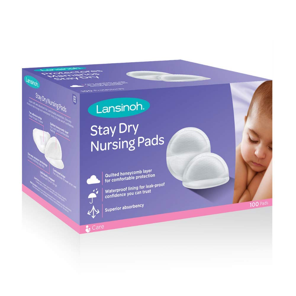 Lansinoh Stay Dry Disposable Nursing Pads, 100 Count by Lansinoh