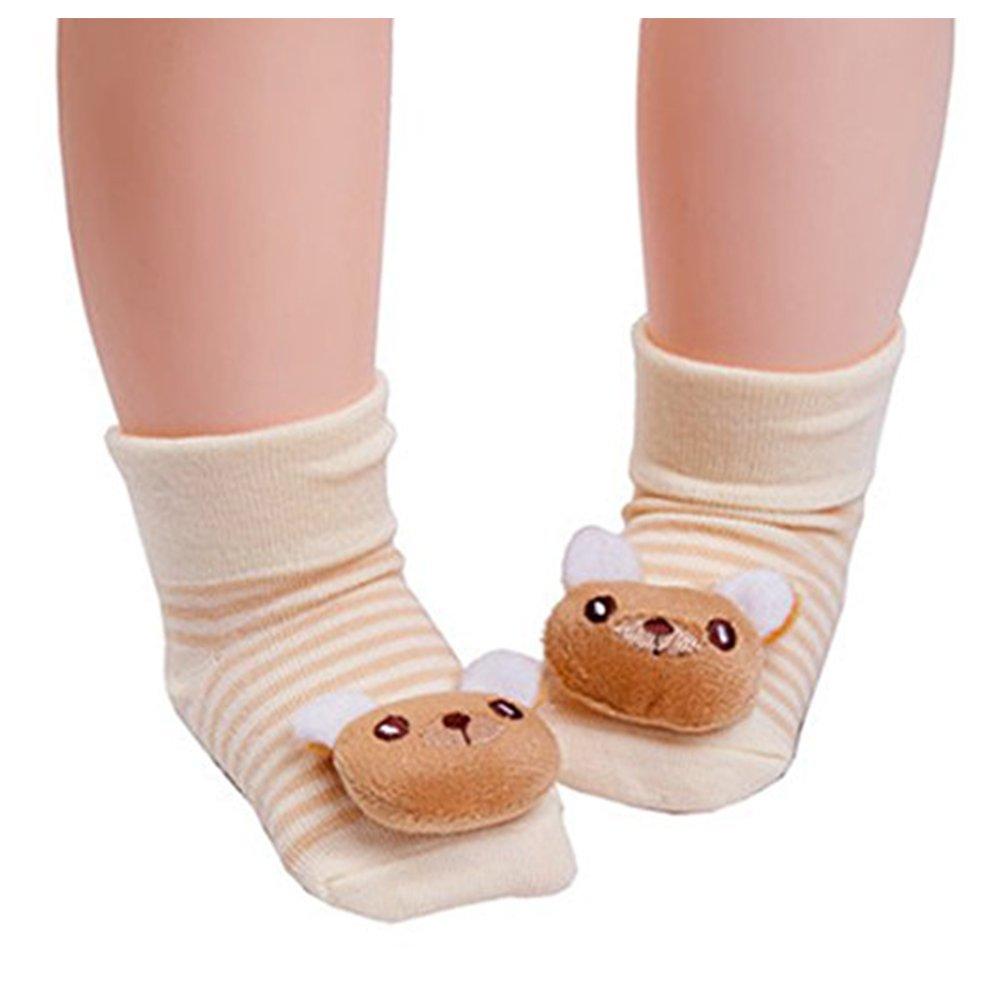 Newborn Baby Soft Bibs/&Cartoon 3D Animal Socks Cotton Hats 0-6 Months