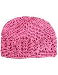 Cotton Kufi Cap Pink OSFM