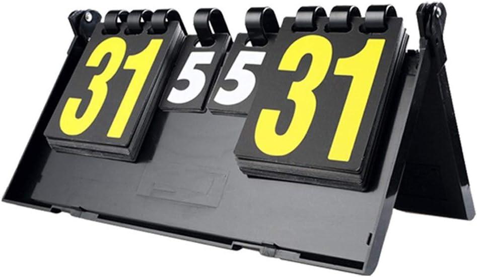 Cuadro de indicadores Marcador de plástico portátil Table Tennis Match Flip Scoreboard Digital Basketball Training Sports Scoreboard se puede leer fácilmente desde el estadio o en cualquier lugar del