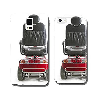 red motorized mobility scooter fot elderly people cell phone cover case Samsung S5