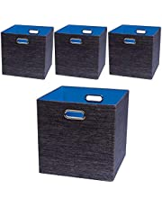 Posprica Storage Cubes,Storage Bins,Foldable Baskets Fabric Drawers Containers for Shelf Cabinet Bookcase,Thick and Heavy Duty