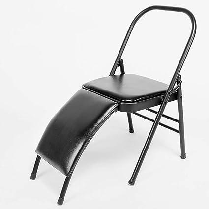 Silla de yoga, cara de PU, silla auxiliar de silla de yoga ...