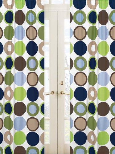 Sweet Jojo Designs 2-Piece Designer Dot Modern Window Treatment Panels
