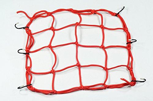 Moto Onfire 3030cm Luggage Cargo Bungee Net Bag 6 Hooks Bike Motorcycle Helmet Mesh Storage Carrier Bag(Red) 01-155-1002