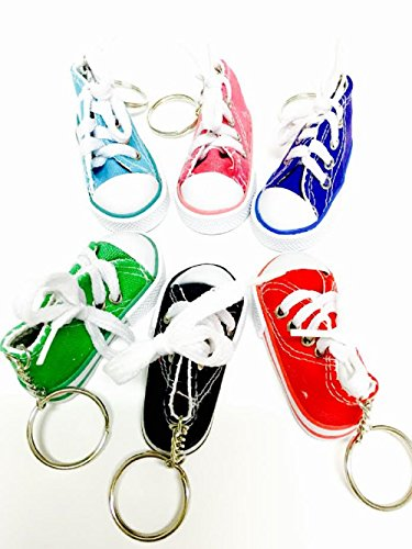 Canvas Mini Hi Top Sneaker Keychain - 2 Pack (Sneaker Keychain)