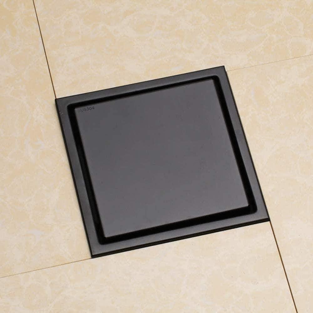 Unsichtbarer quadratischer Bodenablauf mit Fliesenrost für Bad und Küche
