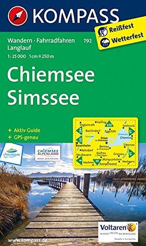 Chiemsee - Simssee: Wanderkarte mit Aktiv Guide, Radrouten und Loipen. GPS-genau. 1:25000 (KOMPASS-Wanderkarten, Band 792)