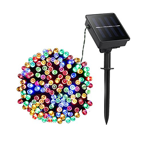 WISH 100 LED Rope Lights String Lights with Solar Panel for Halloween Christmas Festival Decoration (39 Feet)