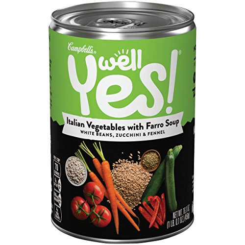 Well Yes! Italian Vegetable with Farro Soup, 16.1 Ounce (Pack of 12) (Packaging May (Farro Soup)