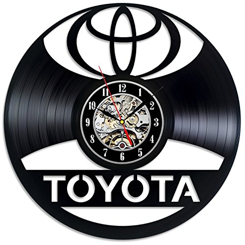(Toyota Logo Vinyl Record Wall Clock - Decorate your home with Modern Car Art - Gift for men and women, girls and boys - Win a prize for a feedback)
