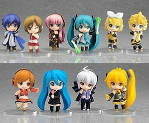 New Hot Lot de 10 figurines HATSUNE MIKU 5.5 CM Vocaloïde manga vocaloid