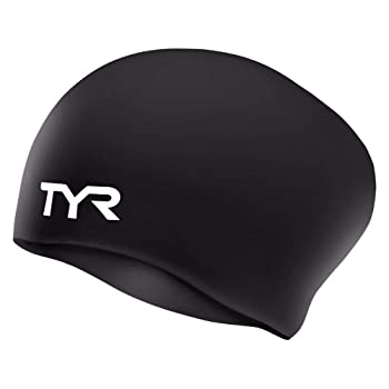 TYR Wrinkle Free Silicone Swim Cap for Kids
