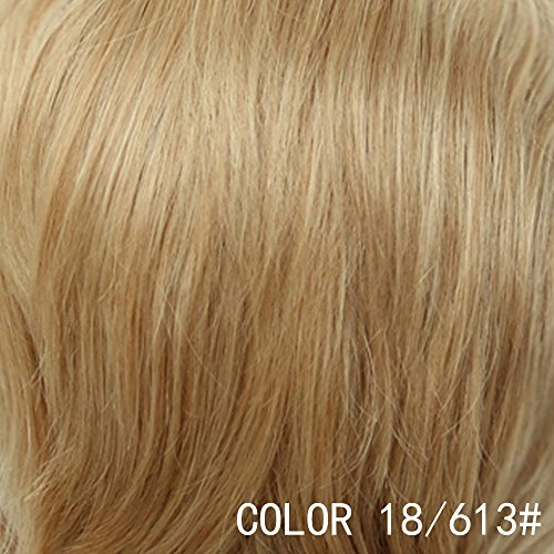 BLONDE UNICORN Wavy Texture Short Fluffy Wig Human Hair with Synthetic Fiber for Cosplay Party Wig