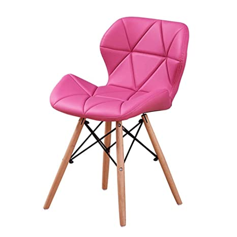 Eames Replica Faux Leather Dining Chair/Cafe Chair/Side Chair/Accent Chair (Rose) Color by Finch Fox