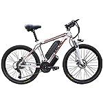 51rcfMdSL7L. SS150 JXH 26 Bici Pollici di Montagna, Doppio Freno a Disco per Mountain Bike Hardtail Uomo, Bicicletta Sedile Regolabile, ad…