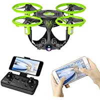 Lywey 0.3MP 6 Axis FQ26 UAV WIFI Folding Mini Aerial Vehicle drone RC Airplane Toy, Connect APP, APK System With Battery For Children Gift