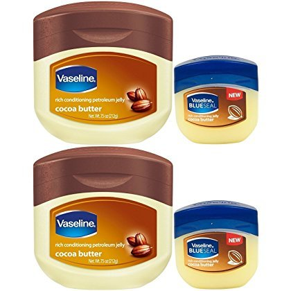 Vaseline Petroleum Jelly, Cocoa Butter, 7.5 Ounce [With Bonus 1.7 Ounce] (Pack of -