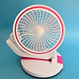 Sykdybz New Idea Led Lamp, Small Fan, Multi-Function Usb Charging And Folding, Folding Table Lamp, Small Fan,Pink
