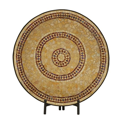 Metal Mosaic Plates (Plutus Brands Captivating Metal Mosaic Platter with Easel)
