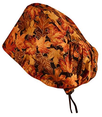 Price comparison product image Riley Bouffant Scrub Caps - Autumn Leaves