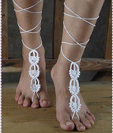 barefoot sandals N-4A B\u0130G D\u0130SCOUNT Bride ivory lace wedding sandals,bridal accessories flowers bridesmaids