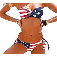 K.N. Strapless Padded Twisted Side / Wrap Halter Cross Womens Sexy Slimstyle Swimwear Bikini
