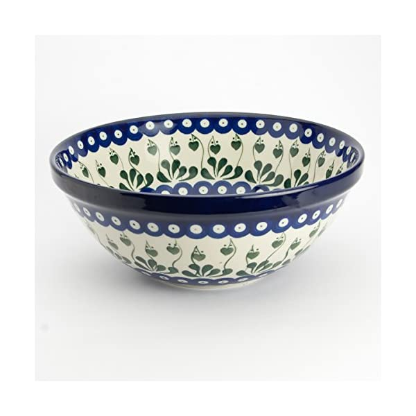 Polish Pottery 24cm Serving Bowl Love Leaf