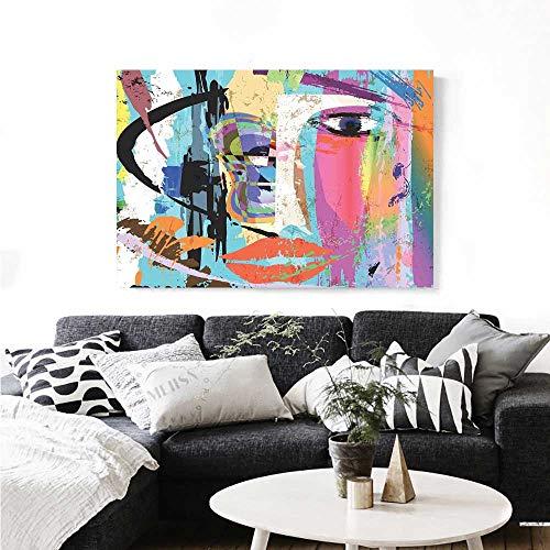 Abstract Canvas Print Wall Art Woman Face Art