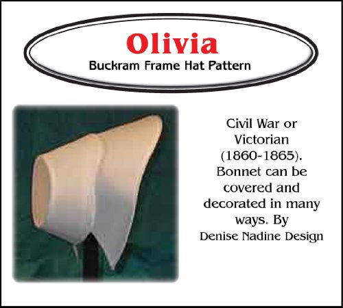 Sewing Pattern - Olivia Bonnet Pattern - 1860-1865 Civil War - Early Victorian Era or Steampunk Inspired]()