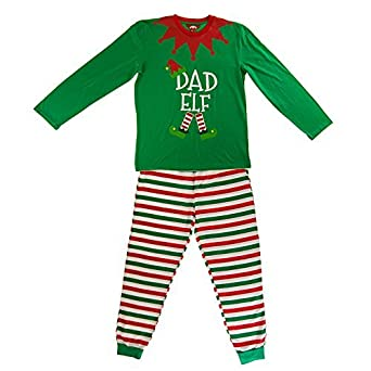 Mens Christmas Pajamas.Dad Elf Made By Elves Elf Pyjamas Mens Christmas Pjs Large