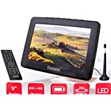TV PORTATIL DIGITAL 9 POLEGADAS CONVERSOR INTEGRADO MONITOR COM CONTROLE REMOTO USB LED PVR SD E BATERIA RECARREGAVEL BIVOLT