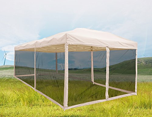 Quictent Ez Tan 10x20 Feet Pop up Party Tent Canopy Gazebo Mesh Side Wall With Carry BAG