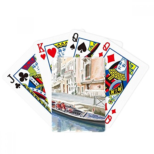 Italy Venice Landmark National Pattern Poker Playing Cards Tabletop Game Gift by beatChong
