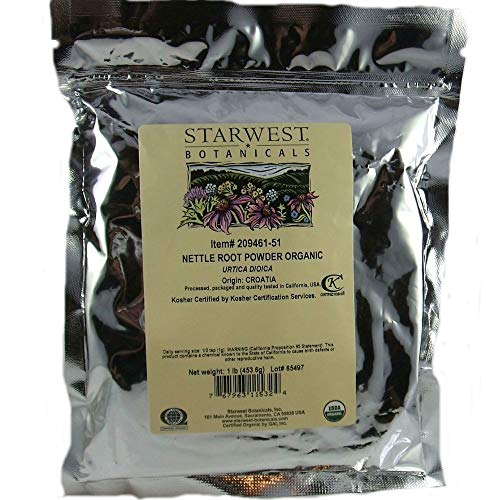 Starwest Botanicals Organic Nettle Root Powder, 1 Pound