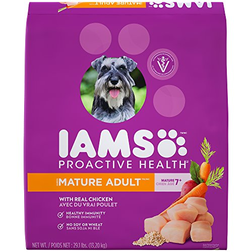 IAMS PROACTIVE HEALTH Mature Adult Premium Dry Dog Food (1) 29.1 Pound Bag; Veterinarians Recommend IAMS; Chicken Is #1 Ingredient