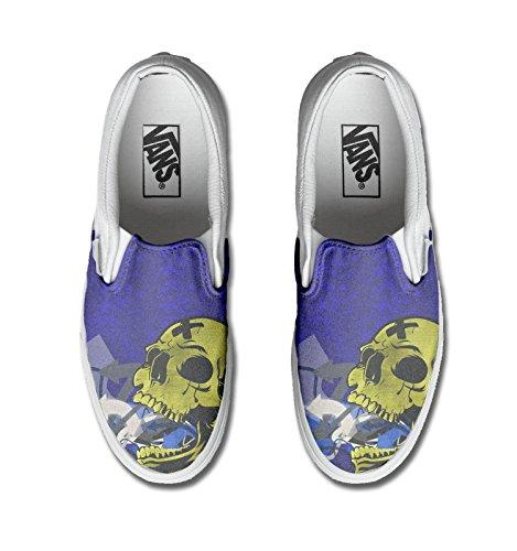 Vans personalizzate Authentic, Sneaker Unisex ? Adulto (Prodotto Artigianale) Skull