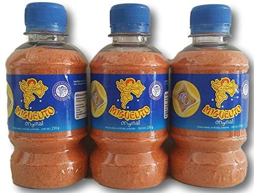 Miguelito El Original Mexican Candy Chili Powder 3 Bottles 250g (8.8oz) Each
