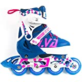 MammyGol Adjustable Inline Skates for Kids Girls Boys with Light up Wheels