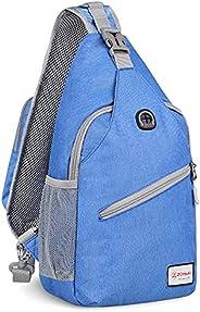 ZOMAKE Sling Bag Backpack for Women Girl, Small Chest Crossbody Bag Daypack Over the Shoulder Backpack for Tra